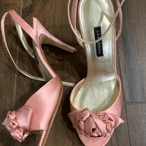 Caparros Rose Satin Pink Heels